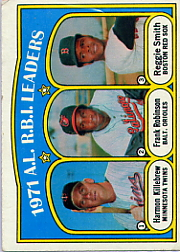 1972 Topps Baseball Cards      088      Harmon Killebrew/Frank Robinson/Reggie Smith LL
